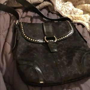 BUNDLE&SAVE! Shimmery black coach purse
